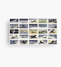 Military aircraft from 1950s. Collection of 25  Canvas Print