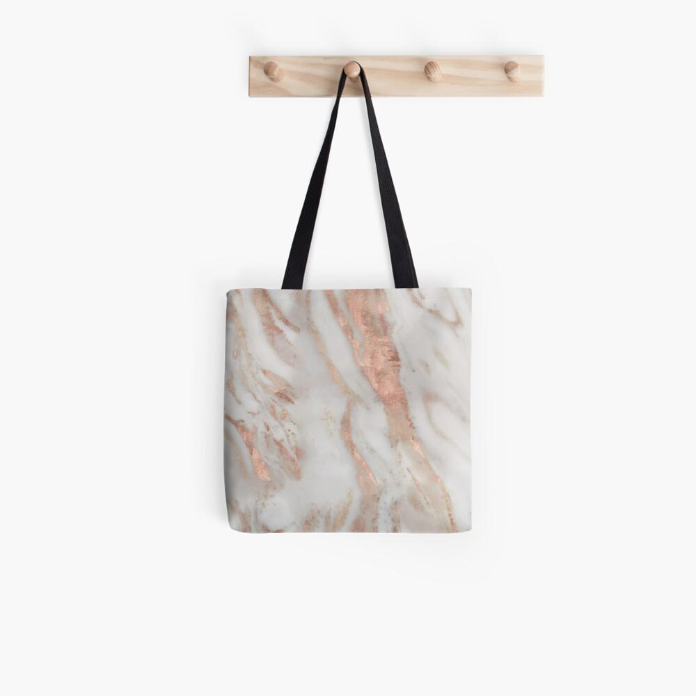 Civezza - rose gold marble Tote Bag