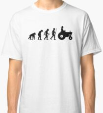 Farmer Evolution with tractor Classic T-Shirt