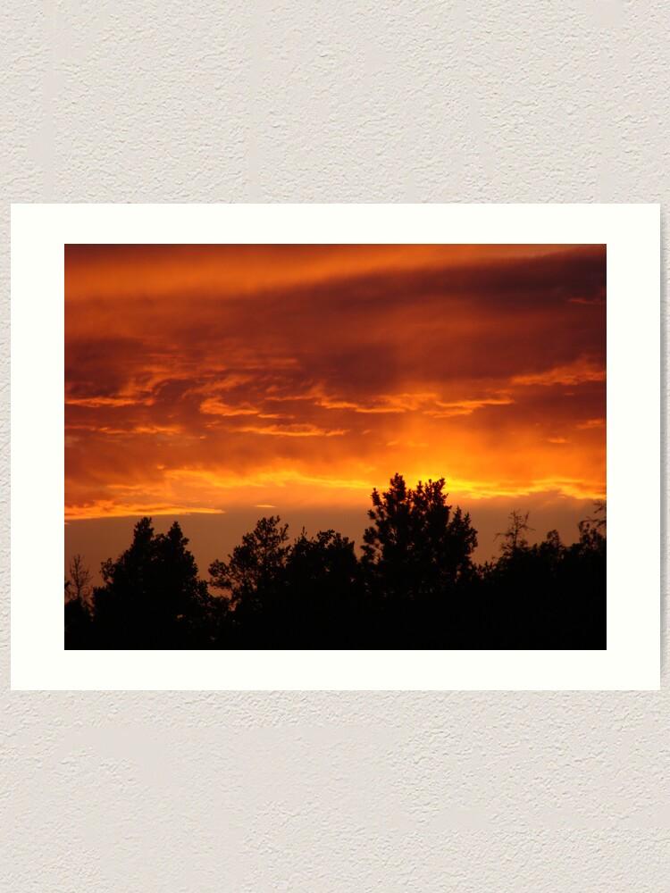 Alternate view of Sky on Fire Art Print