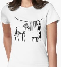 Banksy Zebra Women's Fitted T-Shirt