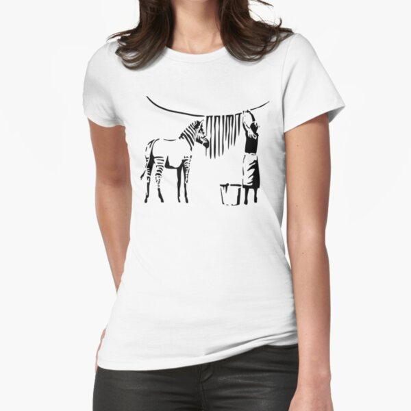 Banksy Zebra Fitted T-Shirt