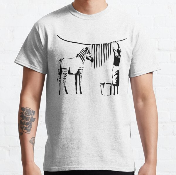 Banksy Zebra Classic T-Shirt