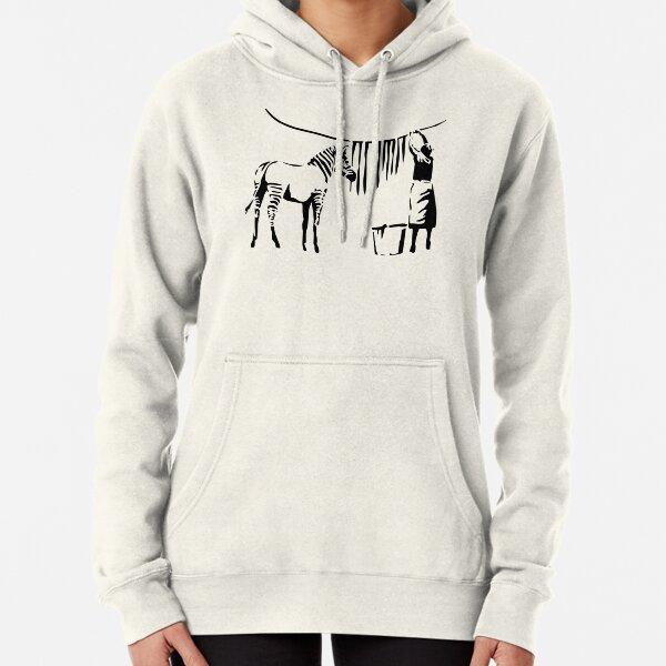 Banksy Zebra Pullover Hoodie