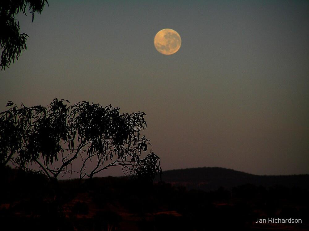 Moon over the Weddin Range by Jan Richardson