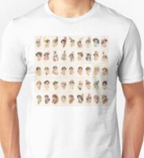 1910 beauties in picture hats set of 45 T-Shirt