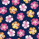 Süßigkeit farbiger Hibiscus auf Marine von daisy-beatrice