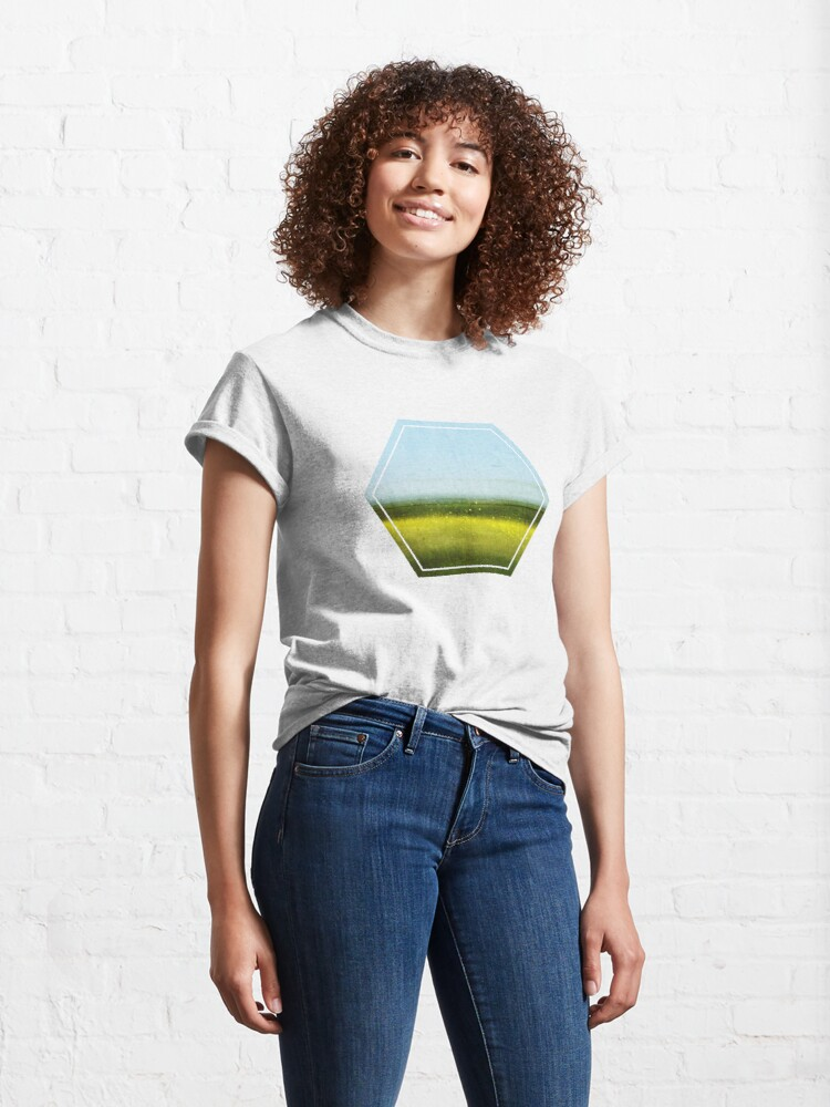 Alternate view of Abstract Landscape No 1: Rapeseed field Classic T-Shirt