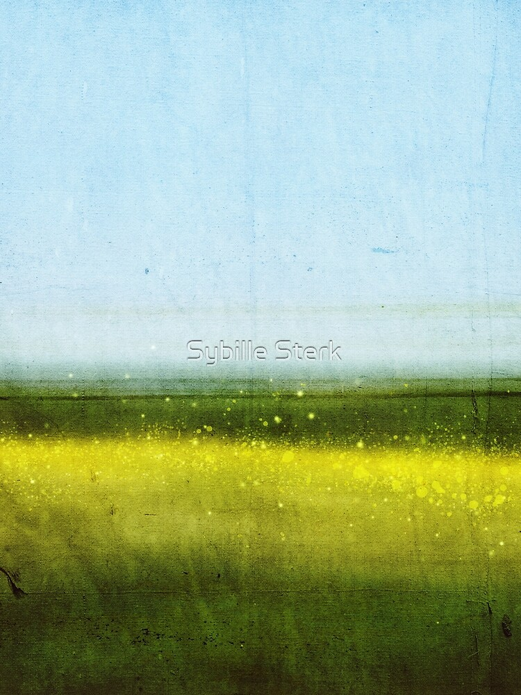 Abstract Landscape No 1: Rapeseed field by MagpieMagic