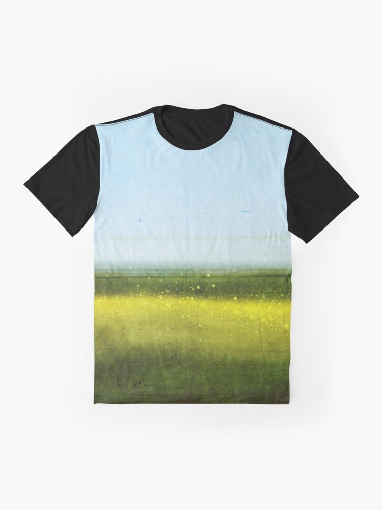 Alternate view of Abstract Landscape No 1: Rapeseed field Graphic T-Shirt