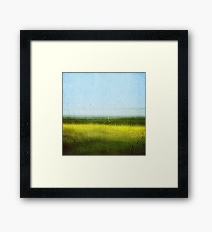Abstract Landscape No 1: Rapeseed field Framed Print