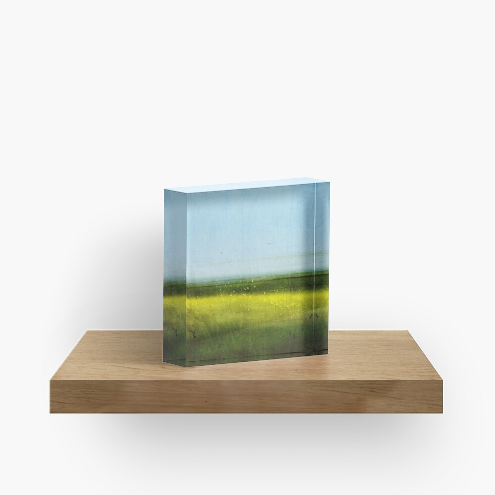 Abstract Landscape No 1: Rapeseed field Acrylic Block