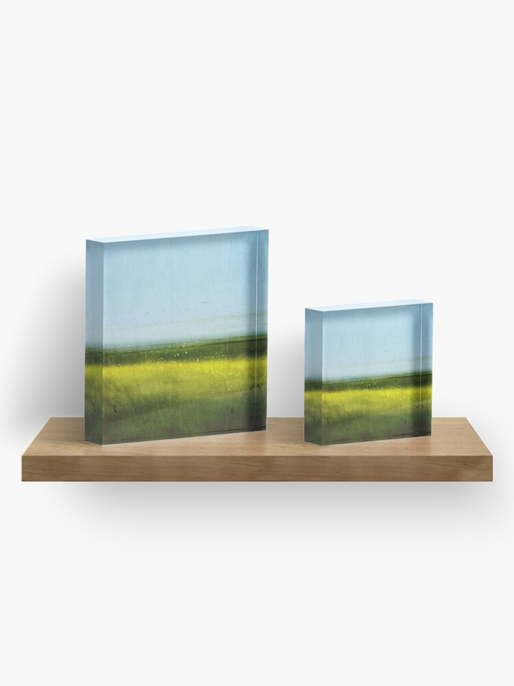 Alternate view of Abstract Landscape No 1: Rapeseed field Acrylic Block