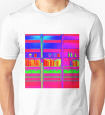 Contemporary Bookcase with Books and Ornaments T-Shirt