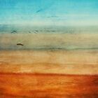 Abstract Seascape No 4: sandy beach by Sybille Sterk