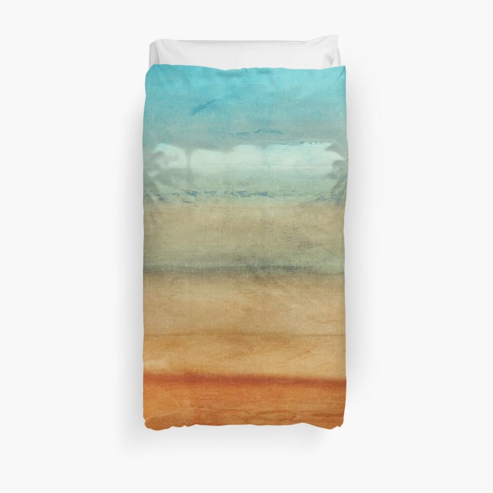 Abstract Seascape No 4: sandy beach Duvet Cover