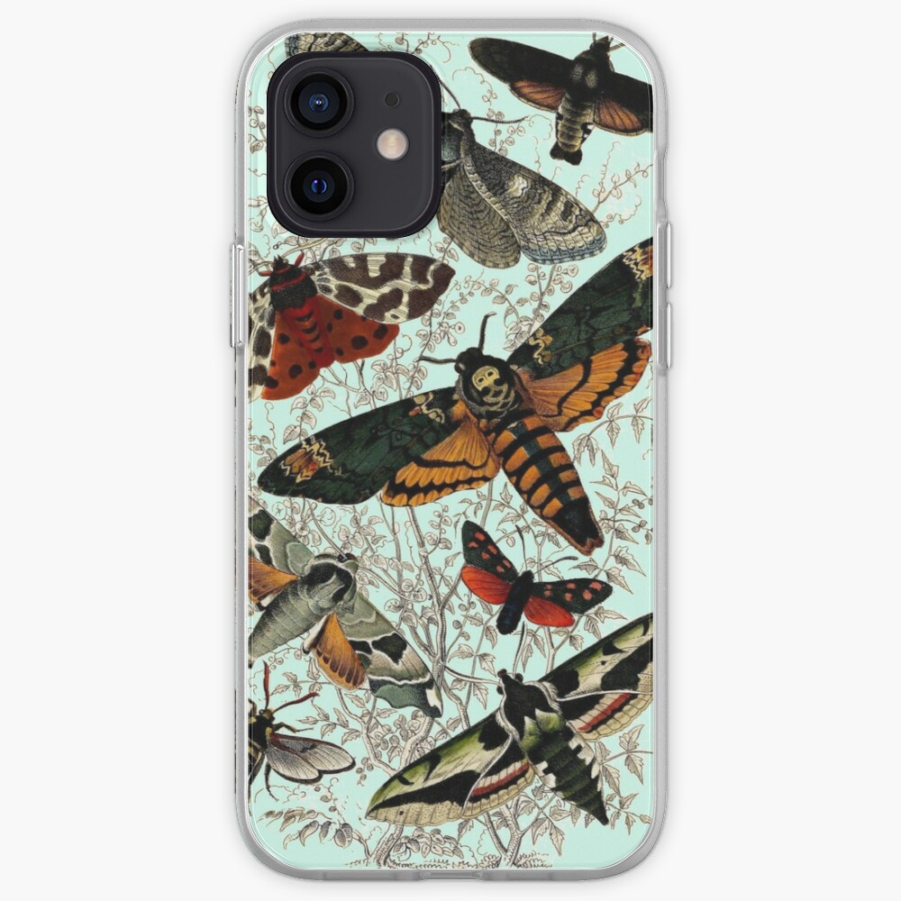 Victorian Moth Insects illustration iPhone Case & Cover