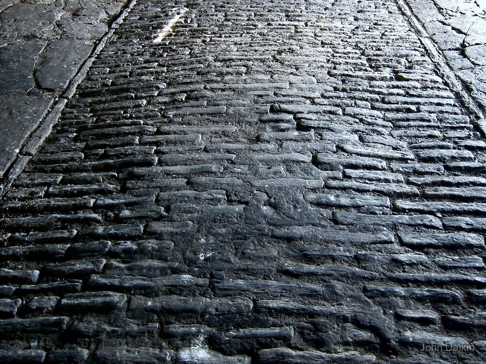 Stone Floor, Tithe Barn. by John Dalkin