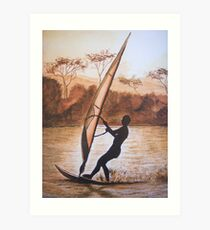 The Windsurfer Art Print