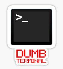 Dumb Terminal Sticker