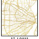 ST. LOUIS MISSOURI CITY STREET MAP ART by deificusArt