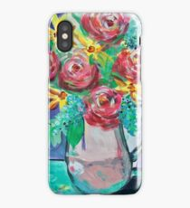 Summer Coffee Cup Bouquet iPhone Case