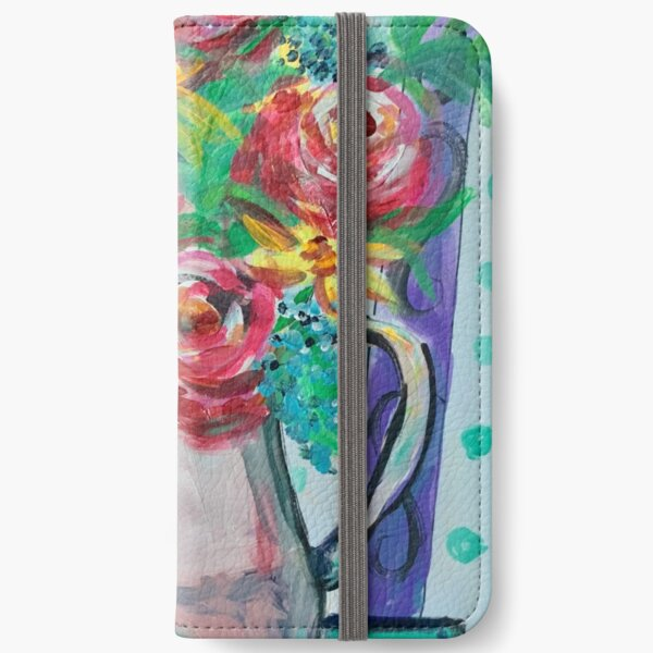 Summer Coffee Cup Bouquet iPhone Wallet