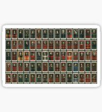 Set von 75 Clan-Tartans Sticker