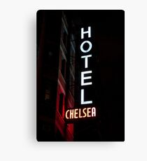 CHELSEA HOTEL - ROCK N' ROLL MONUMENT Canvas Print
