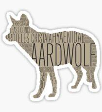 Word Cloud Wildlife: Cristata (Aardwolf) Sticker