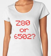 Z80 or 6502? Women's Premium T-Shirt