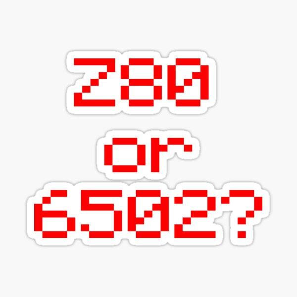 Z80 or 6502? Sticker