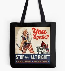 Antifa - Stoppen Sie den Alt Right - Anti Trump Tote Bag