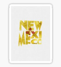 New Mexico Typographic Map Flag Sticker