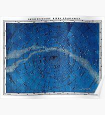 ASTRONOMIE NORDKONSTELLATIONEN; Vintage Karte drucken Poster
