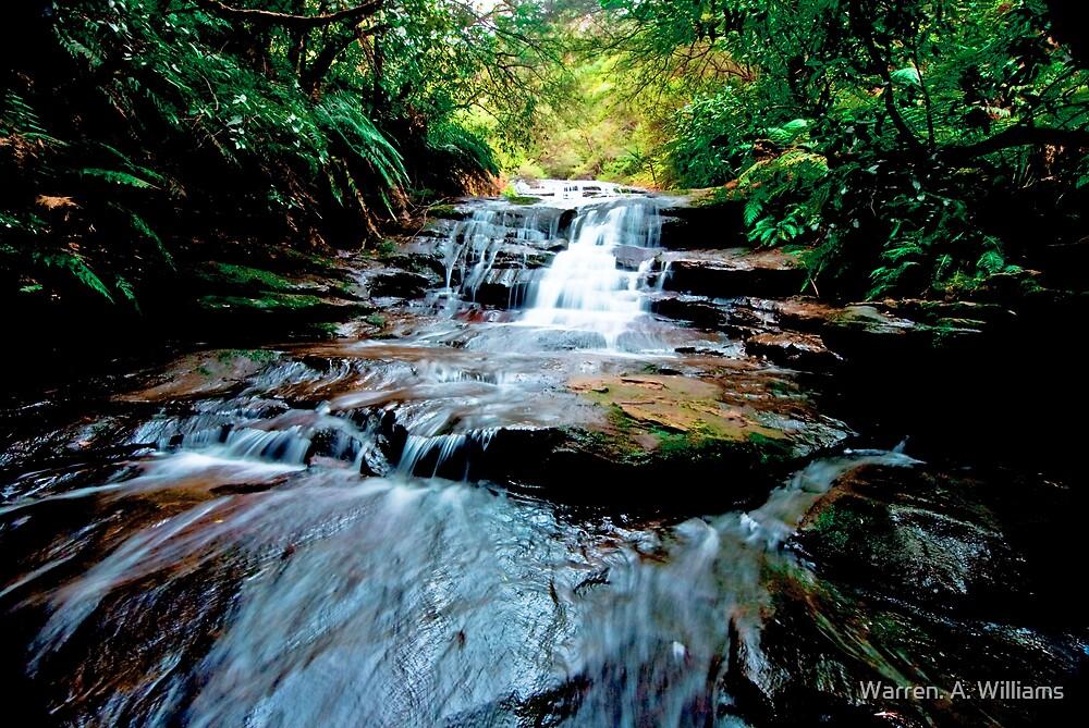 Upper Bridal Veil Falls Leura Blue Mountains by Warren. A. Williams