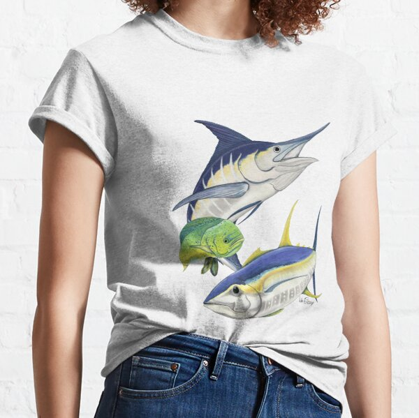 Blue marlin, tuna and dolphinfish  Classic T-Shirt