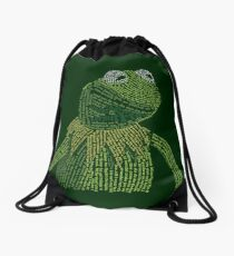 It's not easy, bein' Kermit Drawstring Bag