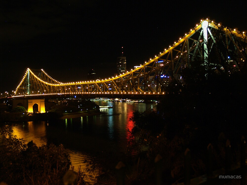 Lights on the Story Bridge  by mumacas