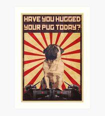 Propaganda Pug Art Print