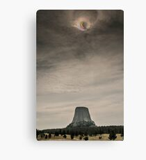 Devils Tower Eclipse Canvas Print