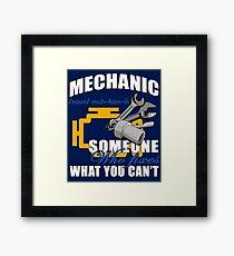Auto Mechanic Framed Print