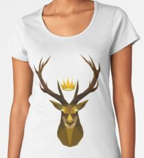 The crowned stag of House Baratheon Women's Premium T-Shirt