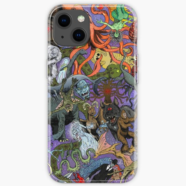 Cryptid Creatures and Mysterious Monsters iPhone Soft Case
