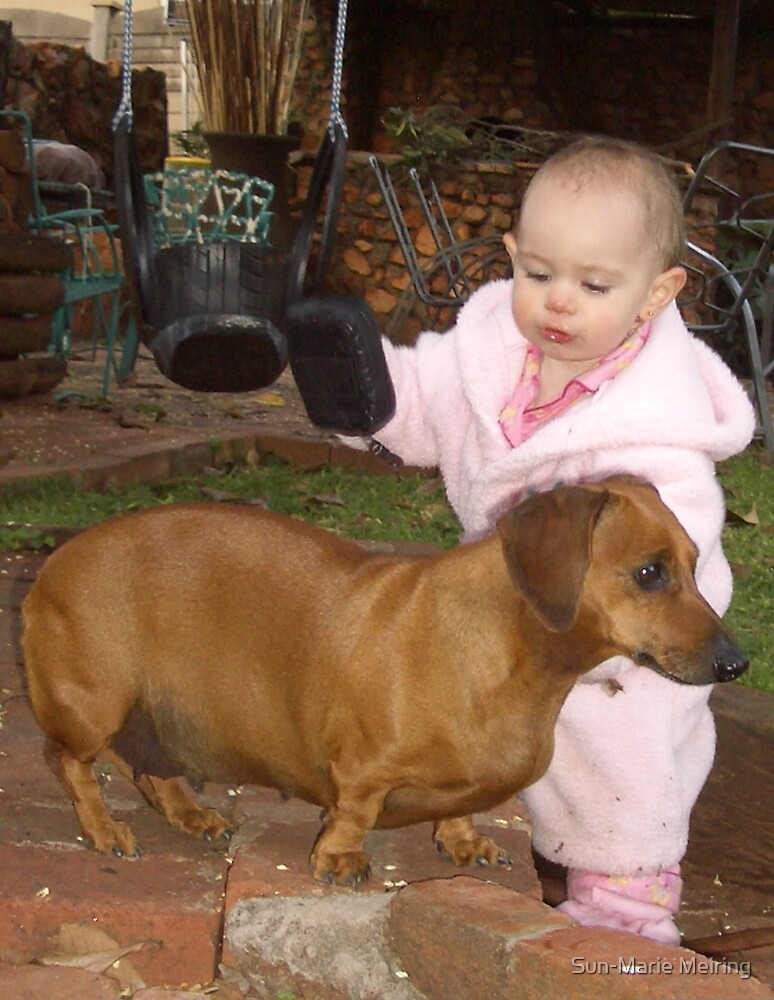 Me and my dog by Sun-Marie Meiring