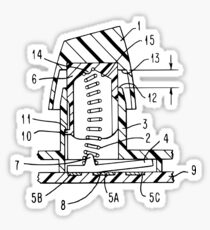 Buckling Spring Patent Drawing Sticker