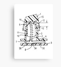 Buckling Spring Patent Drawing Canvas Print
