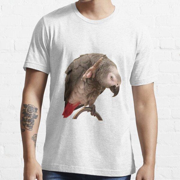 Einstein African Grey Parrot Waving Essential T-Shirt