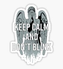 Weeping Angel With Don't Blink Text Sticker