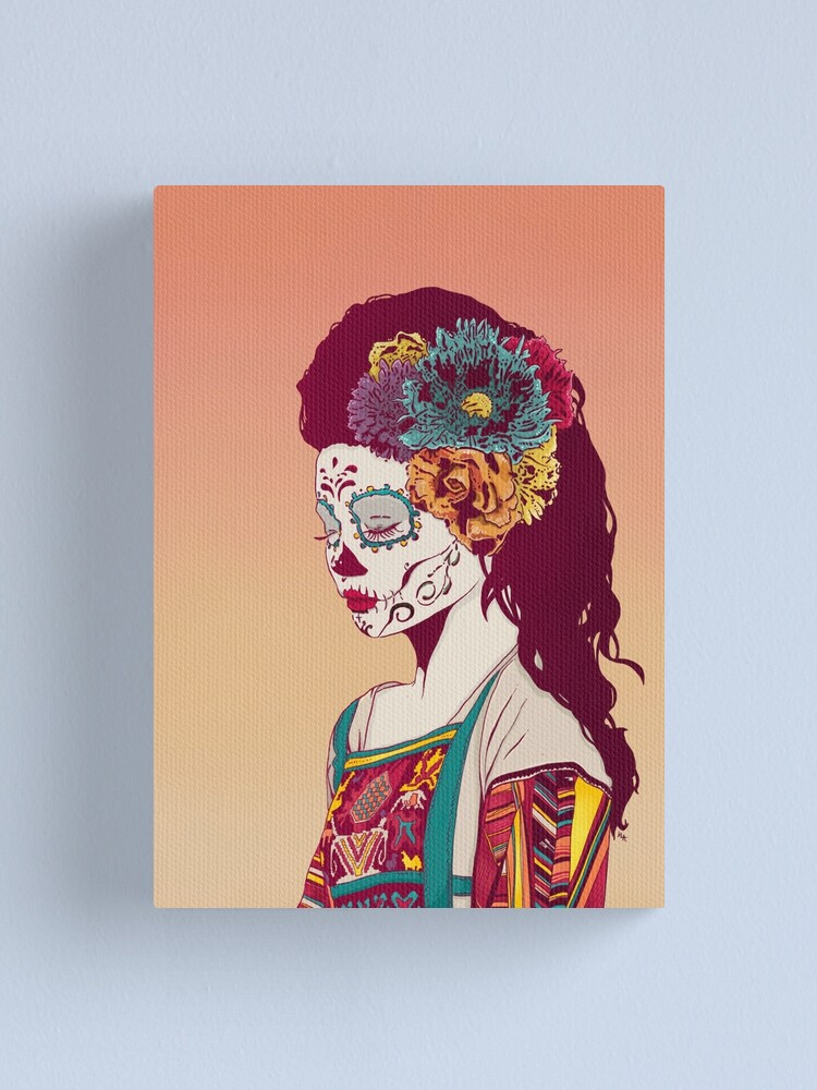 Alternate view of Mexican Skull Lady Canvas Print